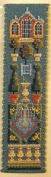 Textile Heritage Counted Cross Stitch Bookmark Kit - Orangery - Cream Background