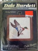 Flying Mallard Counted Cross Stitch 7.6cm X 7.6cm