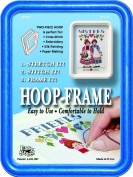 "Easy Street Crafts ""Square"" Embroidery Hoop-Frame, 13cm by 18cm , Blue"