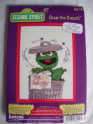 Sesame Street Oscar the Grouch Counted Cross Stitch Kit with Frame