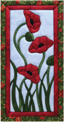 Quilt Magic 25cm by 48cm Trio Of Poppies Kit