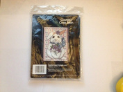 "Golden Bee Counted Cross Stitch Kit ""Rabbit and Violets"""