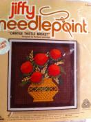 Jiffy Needlepoint Orange Thistle Basket Fits 13cm X 13cm Frame