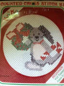 Kits for Kids Beginner Counted Cross Stitch Bunny and Wreath