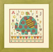 Dimensions Crafts Counted Cross Stitch Kit, Baby Elephant ABC