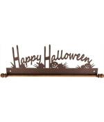 Ackfeld 30cm Happy Halloween Metal Wall Craft Quilt Textile Holder Hanger