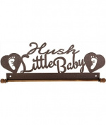 Ackfeld 30cm Hush Little Baby Metal Wall Craft Quilt Textile Holder Hanger