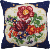 Collection D'art Meissen Droite Pillow Cross Stitch Kit 15 3/4'X15 3/4'