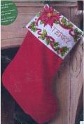 Poinsietta & Berries 46cm Stocking
