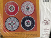 The Creative Circle Calico Jar Toppers Stitchery Kit