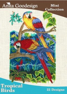 Anita Goodesign Embroidery Designs Cd Tropical Birds