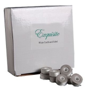 """Exquisite Cardboard Sided White Pre-wound Polyester Bobbins Style """"L"""""""