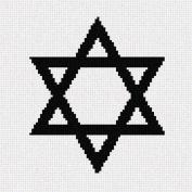 Jewish Star Needlepoint Canvas