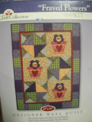 FRAYED FLOWERS. DESIGNER WALL QUILT Quilt Kit
