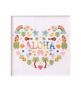 Aloha No.7866 LECIEN Heart cross stitch kit _Aloha Stitch Arohasutetchi_