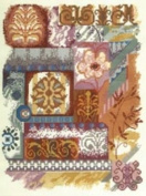 MCG Textiles Candamar Designs Abstractions Abstract Collage 11x14 Counted Cross Stitch Kit