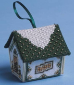 The Nutmeg Company Green & Gold Gingerbread House 3D Cross Stitch Kit