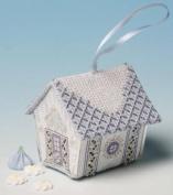 The Nutmeg Company Fondant Icing Gingerbread House 3D Cross Stitch Kit