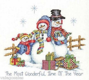 Bobbie G Designs Counted Cross Stitch Kit - Snow Family