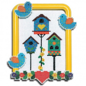 Easy Street Crafts Bird Houses with Birds Counted Cross-Stitch Kit