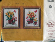 The Creative Circle Pots of Flowers Stitchery Kit