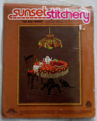 "Vintage 1983 Sunset Stitchery "" Tea and Tiffany "" Kit - Designed by Beth Rienstra"