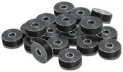 """Exquisite Plastic Sided Black Polyester Pre-wound Bobbins Size """"L"""""""