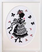 "Orimupasu made cross stitch embroidery kit ""stitch girl Onoe, Megumi"" No.7382 flower divination"