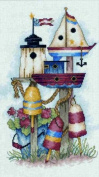 Janlynn Ocean Front Property Counted Cross Stitch Kit