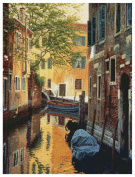 MCG Textiles 52415 Gold Collection Counted Cross Stitch Kit, Venetian Back Alley by Charles White