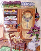 Something Special Cross Stitch Teddy and Quilt Cabinet