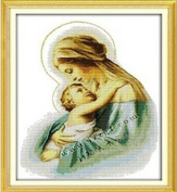 Happy Forever Cross Stitch, Figure, the virgin and the son 3
