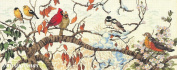 Bird Seasons - Cross Stitch Kit