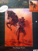 Herman Adams Texas Ranger Picture Embellished Cross Stitch