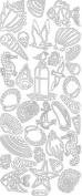 Ecstasy Crafts Deco Stickers- Sea Shells-Gold
