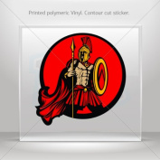 Decals Sticker Spartan Roman warrior car helmet window bike Garage door 0500 XZZ24