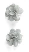 Jolee's Boutique Dimensional Stickers, Grey Burlap Flower