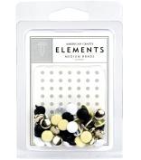 American Crafts Elements Medium Brads, Elegant