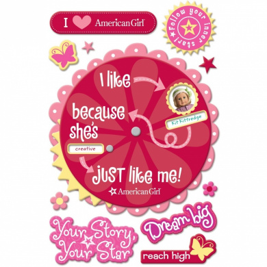American Girl Crafts Doll Spinner Stacker Stickers