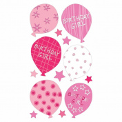 Sticko Vellum Stickers-Birthday Girl Balloons Glitter