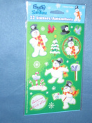 Frosty the Snowman Scrapbook Stickers