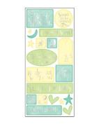Sweet Beginnings Baby Shower Cardstock Scrapbook Stickers