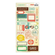 Crate Paper Close Knit 6x12 Journaling Sticker Embellishments