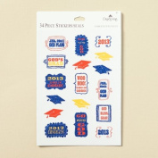 Graduation 2013 Giltter Accent Scrapbook Stickers