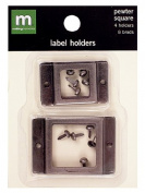 Making Memories Label Holder square pewter