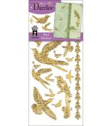Dazzles Stickers, Gold Bird