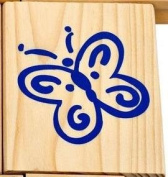 Butterfly - Rubber Stamp Wood Mounted - #849609