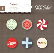 Studio Calico Magical Adhesive Badges Christmas Scrapbook Embellishments