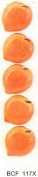 PEACH - Flat backed ceramic - Pack of 5