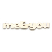 """Fancy Pants Artist Edition """"Me and You"""" Wooden Phrase Embellishments"""